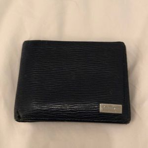 Ferragamo navy leather wallet